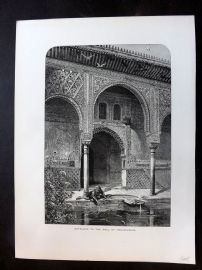 Picturesque Europe C1875 Entrance to the Hall of Ambassadors, Granada Spain